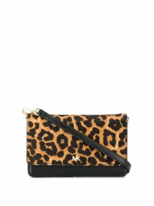 Michael Michael Kors leopard print convertible crossbody bag - Black