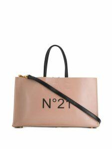 Nº21 logo print tote bag - Neutrals