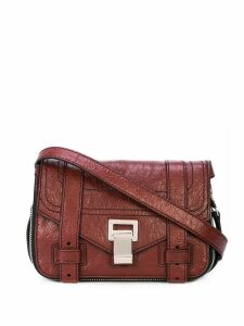 Proenza Schouler Paper Leather Zip PS1+ Mini Crossbody - Dahlia