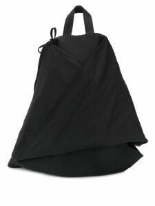 Yohji Yamamoto folded backpack - Black