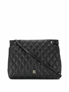 Balenciaga large B quilted shoulder bag - Black