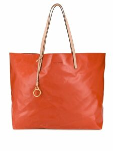 Tory Burch crushed-effect tote bag - Orange