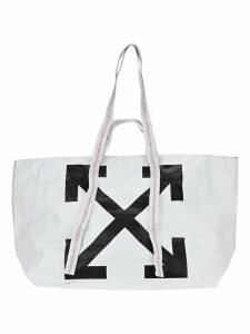 Off White Commercial Arrow Logo Tote