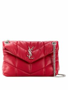 Saint Laurent Loulou quilted small shoulder bag - Red