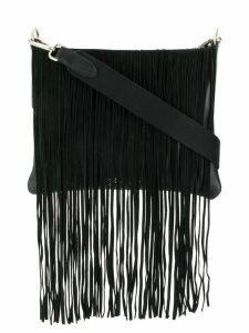 Golden Goose tassel edge shoulder bag - Black
