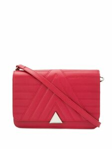 Lancaster quilted logo shoulder bag - Red