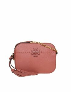 Tory Burch Mcgraw Shoulder Bag Room In Salmon Color Leather