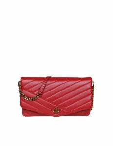 Tory Burch Kira Chevron Clutch In Soft Leather