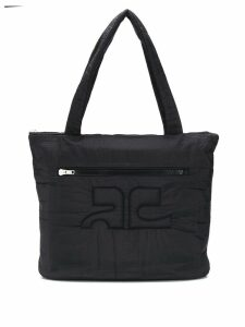 COURRÈGES EYEWEAR quilted oversized shopper bag - Black