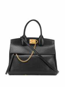 Salvatore Ferragamo structured tote bag - Black