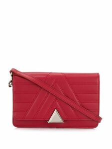 Lancaster Parisienne quilted shoulder bag - Red