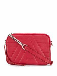 Lancaster Parisienne quilted shoulder bag - Red