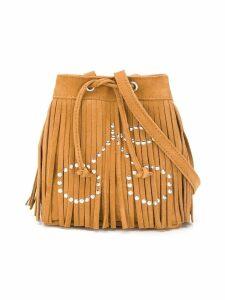 Bonpoint embellished fringe bucket bag - Brown