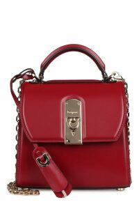 Salvatore Ferragamo Carmine Leather Mini Crossbody Bag