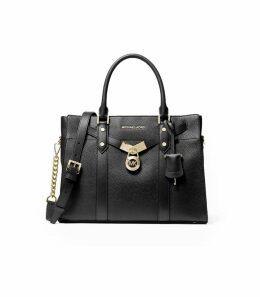 Michael Kors Nouveau Hamilton Black Large Handbag