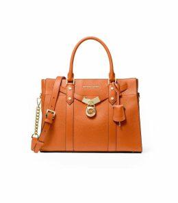 Michael Kors Nouveau Hamilton Dark Orange Large Handbag
