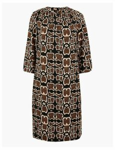 M&S Collection Animal Print Crepe Shift Dress