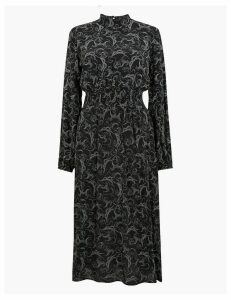 M&S Collection Swirl Waisted Midi Dress