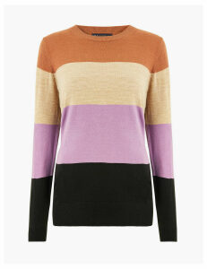 M&S Collection Cashmilion Colour Block Striped Jumper