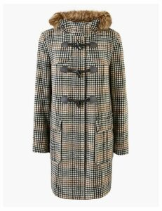 M&S Collection Checked Duffle Coat