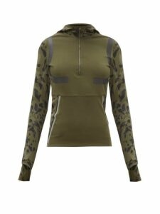 Adidas By Stella Mccartney - Hooded Half Zip Running Jacket - Womens - Khaki