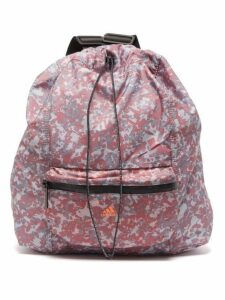 Adidas By Stella Mccartney - Gymsack Camouflage Shell Backpack - Womens - Pink Multi