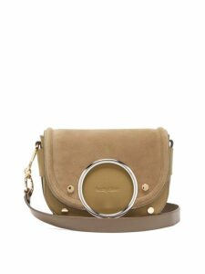 See By Chloé - Mara Suede And Leather Cross Body Bag - Womens - Khaki