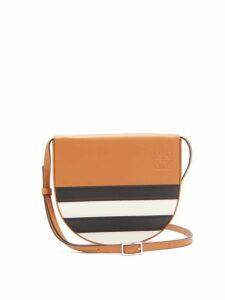 Loewe - Heel Mini Leather Cross Body Bag - Womens - Tan Multi