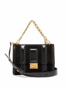 Fendi - Kan U Medium Leather And Suede Cross Body Bag - Womens - Black