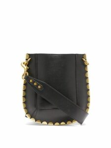 Isabel Marant - Nasko Mini Scalloped Trim Cross Body Bag - Womens - Black Gold