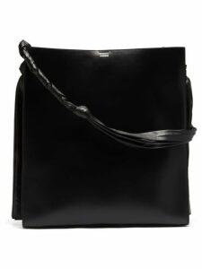 Jil Sander - Tangle Large Leather Shoulder Bag - Womens - Black
