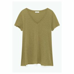 Kobibay Cotton Mix T-Shirt with V-Neck