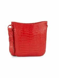 Crocodile Leather Crossbody Bag
