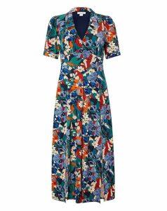Monsoon Bettina Floral Print Jerey Dress