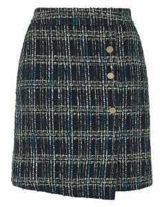 Monsoon Talia Check Mini Skirt