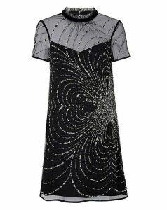 Monsoon Chloee Embellished Short Dress