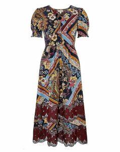 Monsoon Ruby Lace Jersey Midi Dress