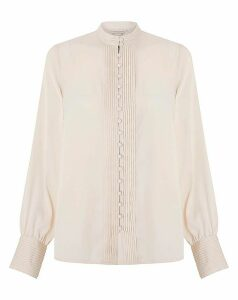 Monsoon Perri Pleat Button Blouse