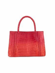 Crocodile Leather Top Handle Bag