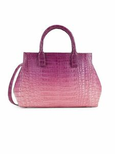 Ombré Crocodile Leather Top Handle Bag