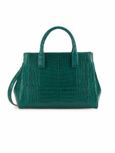 Crocodile Leather Top Handle Bag