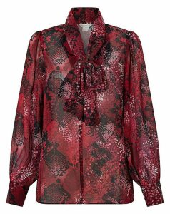 Monsoon Synthia Blouson Bow Neck Blouse