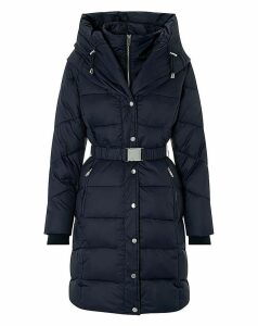 Monsoon Laurel Belted Shawl Padded Coat