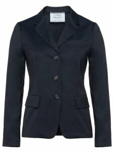 Prada classic fitted blazer - Blue