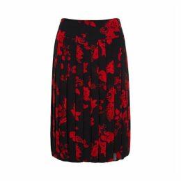 Tory Burch Printed Pleated Chiffon Skirt