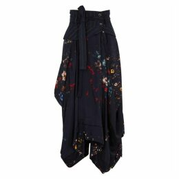 HIGH Legacy Floral-print Asymmetric Skirt