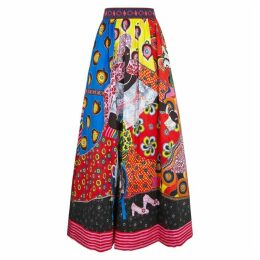Alice + Olivia X Carla Kranendonk Tina Stretch-cotton Maxi Skirt