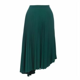 Markus Lupfer Maddie Pleated Skirt Forest Green