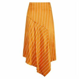 HUGO Rolina Striped Satin Midi Skirt