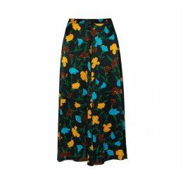 Kitri Emilia Floral Print Midi Skirt